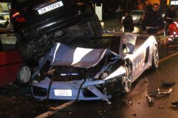 Lamborghini der italienischen Polizei - nachher