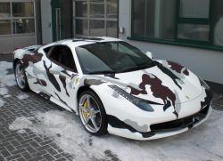 Ferrari 458 Italia in Camouflage-Design
