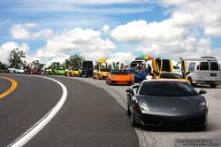 farbenfrohe Lamborghini Fotos