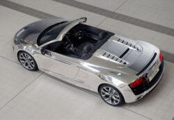 Chrom Audi R8 Spyder für Elton John AIDS Stiftung
